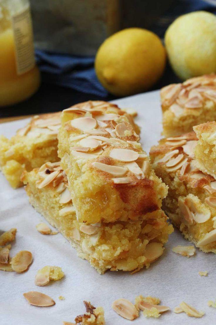 Lemon Bakewell slices - Scrummy Lane