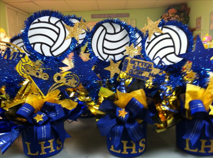 Volleyball Banquet centerpieces