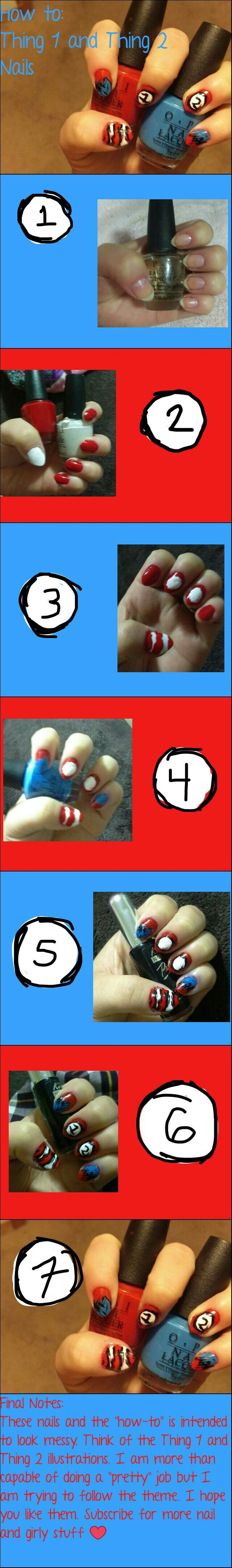 How-to Thing 1 and Thing 2 nails