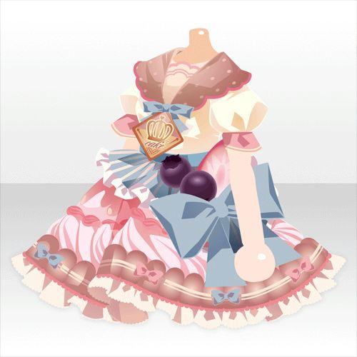 上半身/インナー クリームホイップケーキワンピBピンク