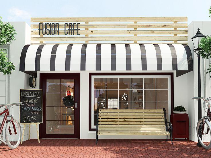 Coffee Shop Exterior Design Store Decorations