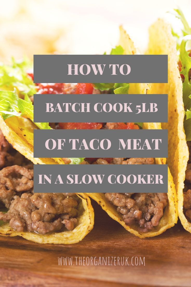 How To Cook 6lb Of Ground Beef In The Slow Cooker The Organizer Uk In 2020 Batch Cooking Cooking Slow Cooker Ground Beef