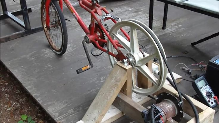 Cool Diy Video How To Build A Homemade Bicycle Generator