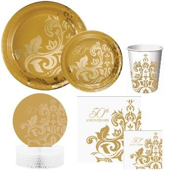 Golden Anniversary Party Supplies, 50th Anniversary Party Supplies - Party at Lewis