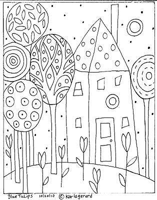 Alfombra De Enganche Artesanía Papel Patrón Azul Tulipanes Folk Art Abstracto Karla Gerard | Artesanías, Artesanías con agujas e hilos, Fabricación de tapetes | eBay!