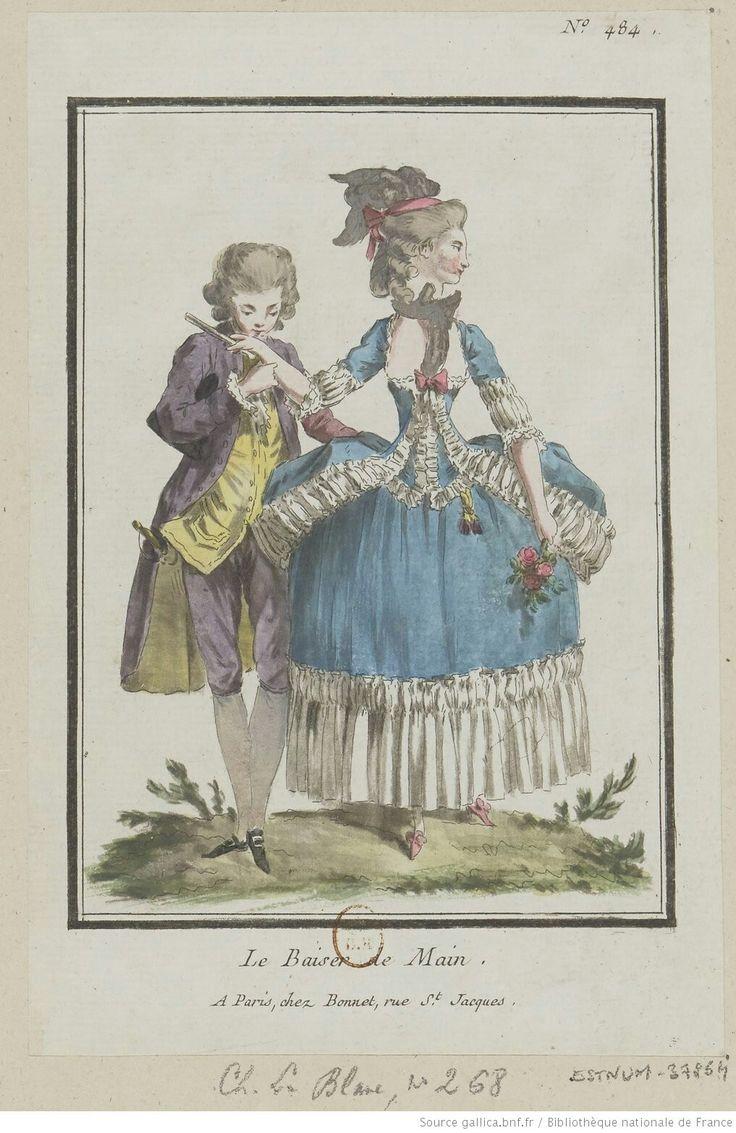 Titre:Le Baiser de Main. : [estampe] / [Louis-Marin Bonnet] Auteur:Bonnet, Louis-Marin (1743-1793). Graveur