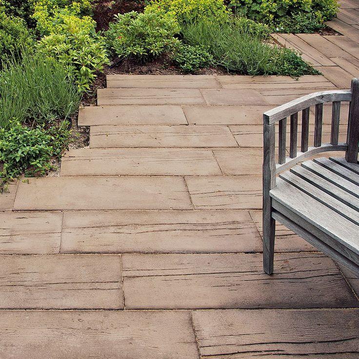 MAHORA Dielenstein/Holzstruktur-Steine/Haus und Garten—Braun Steine