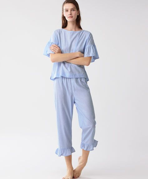 Image result for frill pyjama top