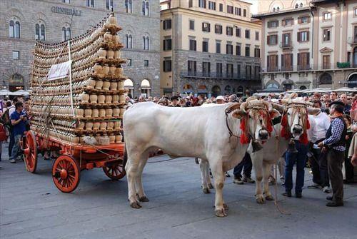 Coisas de Terê → Carroça carregada de garrafas de vinho chianti Ruffino. Toscana - Itália.