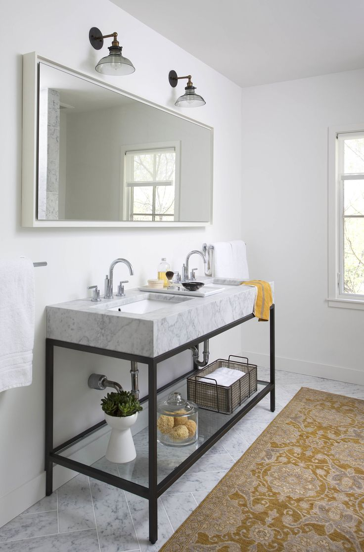 Bathroom Mirrors Double Wide 787 best 3 | residential | bathrooms images on pinterest | room