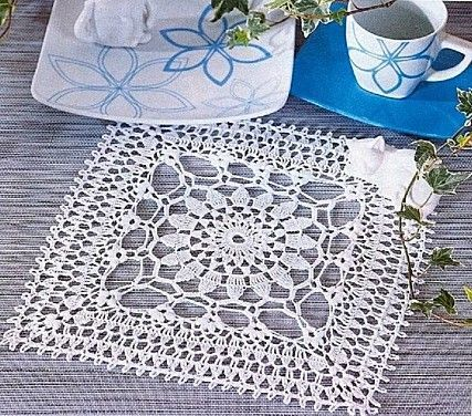 Rectangle Doily Free Crochet Patterns Graphs | tons of free crochet patterns for square doilies, including filet ...