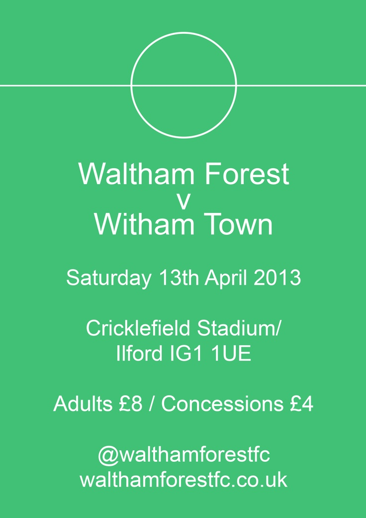 Waltham Forest v Witham Town