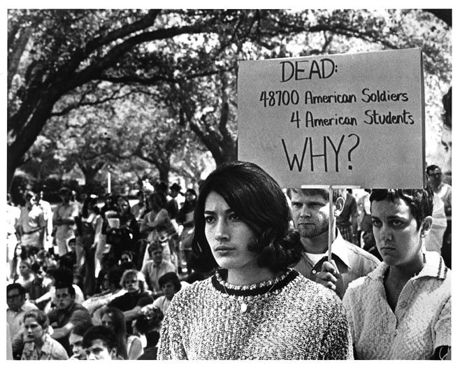 Cowards, protesting instead of helping. All the energy these college cowards who dodged the Vietnam conflict would have been better served collecting items for soldiers over in the rice paddy's of Southeast Asia fighting a conflict they got drafted to go fight!