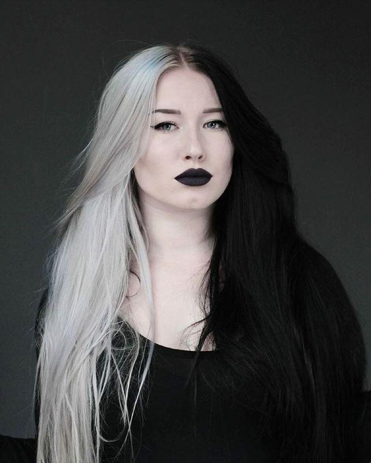 Amateur qualifying half blonde half black hairstyles nude