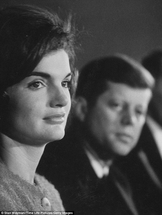 Presidential partners: Jackie campaigning in Democratic presidential primaries with the then Senator John F. Kennedy in March, 1960