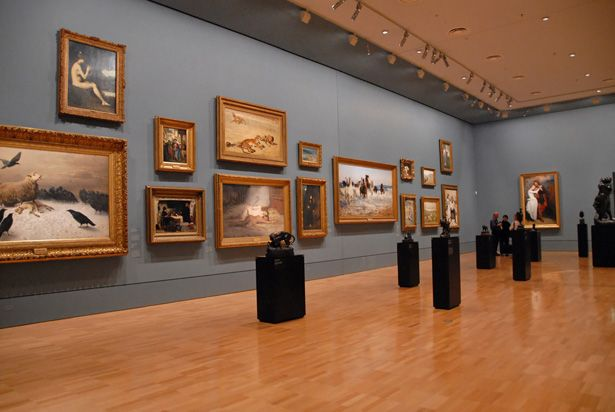 Inside the National Gallery of Victoria on St Kilda Road