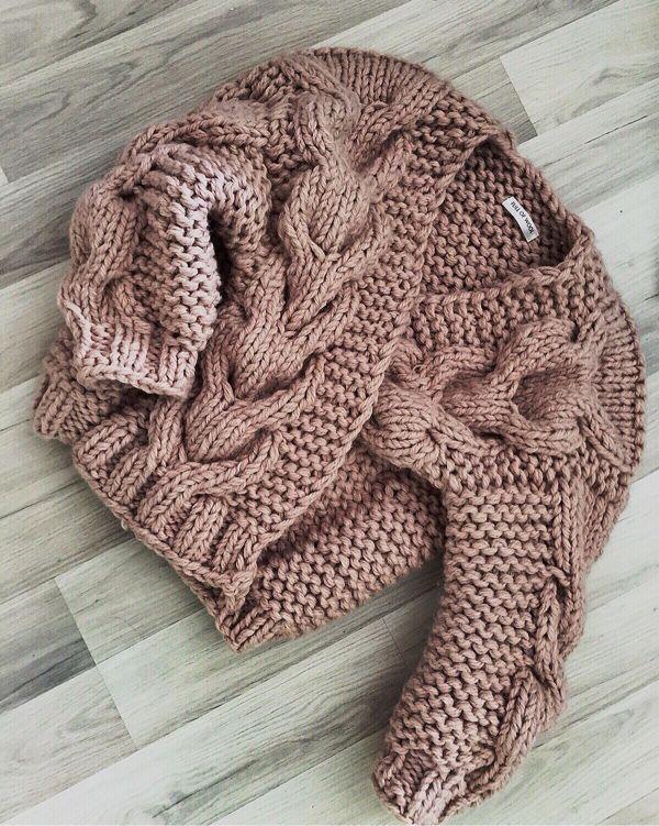 Knitted jacket | Кардиган-бомбер крупной вязки. - Full of Wool - Ярмарка Мастеров http://www.livemaster.ru/item/11828865-odezhda-kardigan-bomber-krupnoj-vyazki