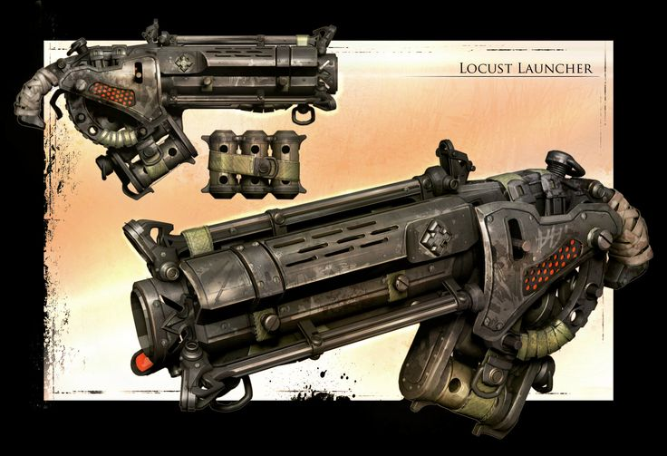 ArtStation - GOW3 Digger Launcher, James Hawkins (Ah, the digger launcher! Had a lot of fun with this.)