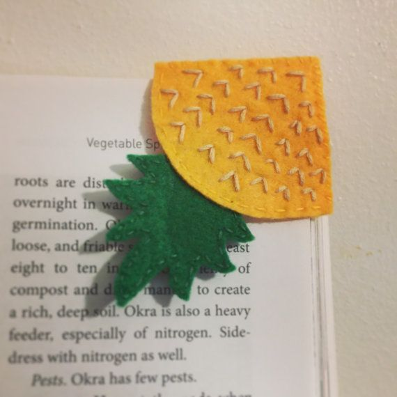 Cute Pineapple Corner made out felt and thread