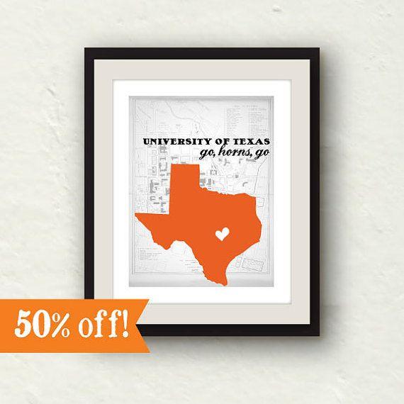Clearance Texas Longhorns University Of Decor 8x10 Print