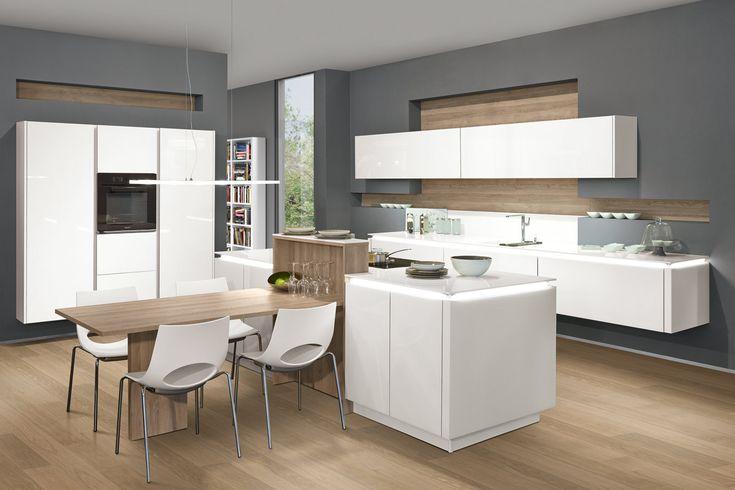 Küche    2 Blöcke mit Bar Haus Pinterest Kitchens - sockelleisten für küchen