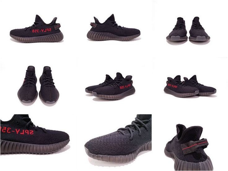 Adidas Yeezy Boost 350 V2 Black Red Sample 2016 2017 chaussures de course Running Shoes