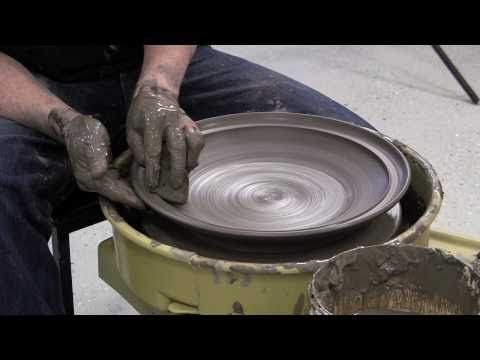Throwing a large plate / wide bowl, with a beautiful rim. Video is in Swedish, but I think it can be useful even if you don't understand what he says.  http://youtu.be/cWiQaHXKdEQ