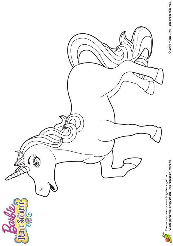 Beau dessin de la reine des licornes, à colorier