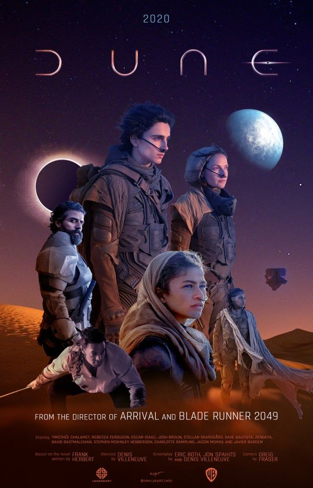Dune 2020 Movie Poster Version 01 Dune Dune The Movie Science Fiction Movie Dune Film
