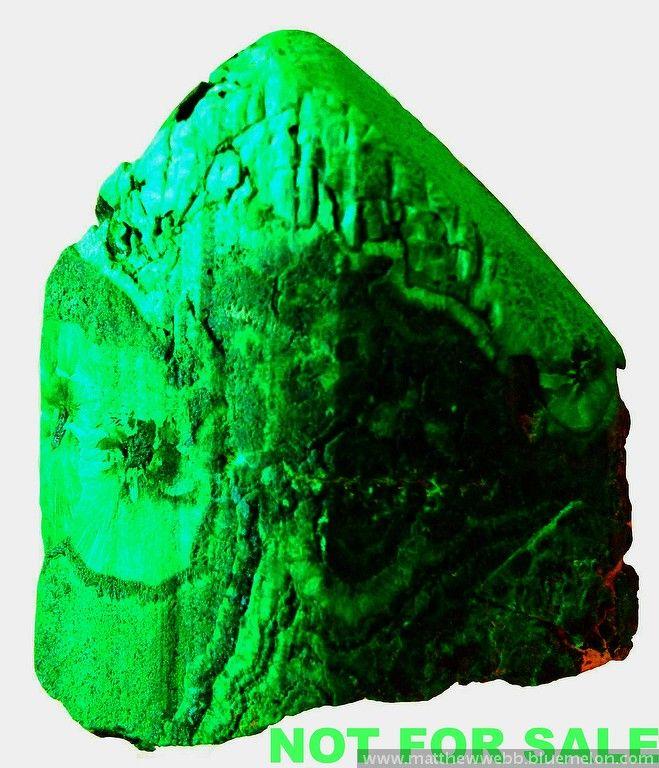 """exclusiveminerals > Malachite after azurite, Tsumeb; 2"""" tall"""
