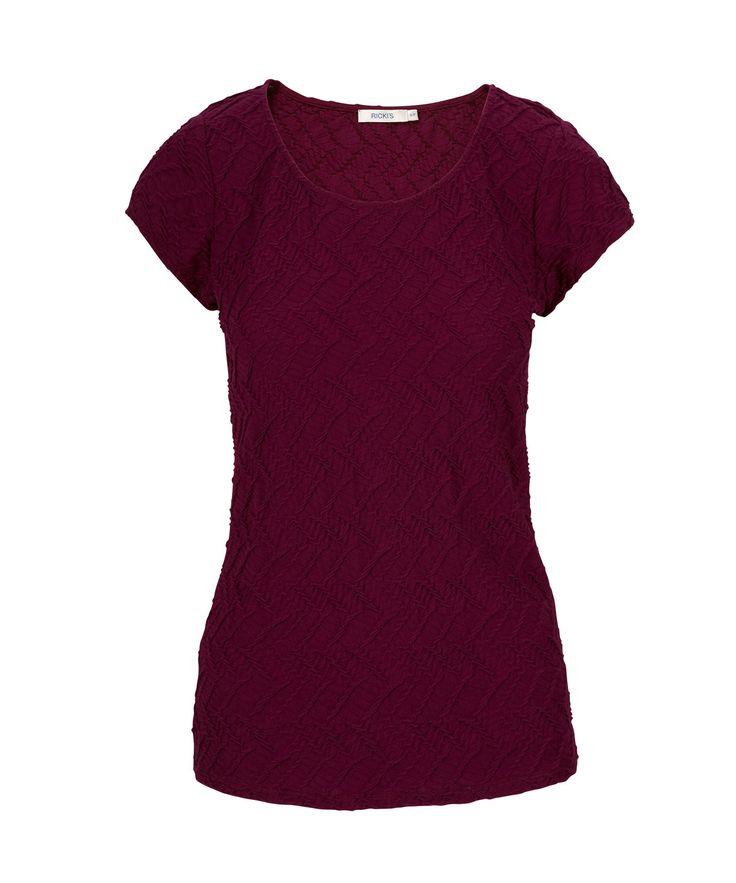 Textured Tee ShirtTextured Tee Shirt, Burgundy