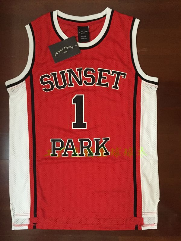 Retro Movie Jerseys Basketball Jersey T-shirts Shorty #1 Fredro Starr Sunset Park Red Movie Vest All Stitched S-2XL Breathable