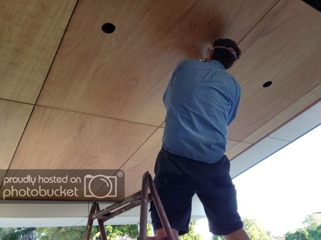 8 Simple Ways To Save Money On A Home Renovation Plywood Ceiling Timber Ceiling Plywood Interior