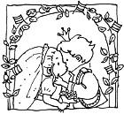 Download de kleurplaat een bruidje voor prinsje Alexander