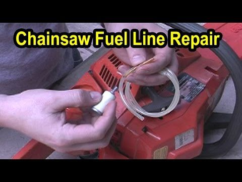 Chainsaw Fuel Line Repair - Husqvarna Model 141 - YouTube