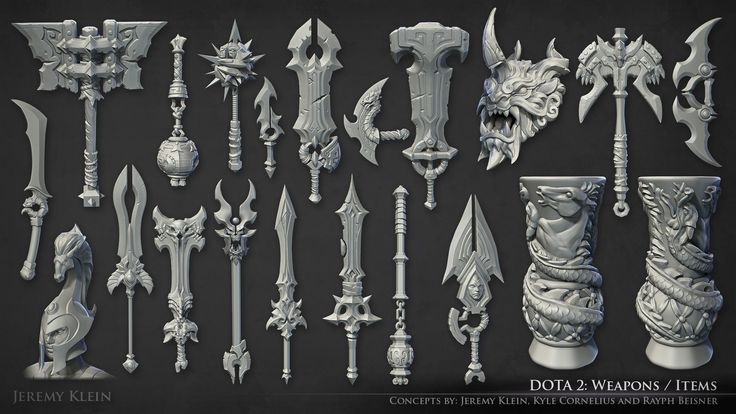 Dota 2 Weapons and Items, Jeremy Klein on ArtStation at http://www.artstation.com/artwork/dota-2-weapons-and-items