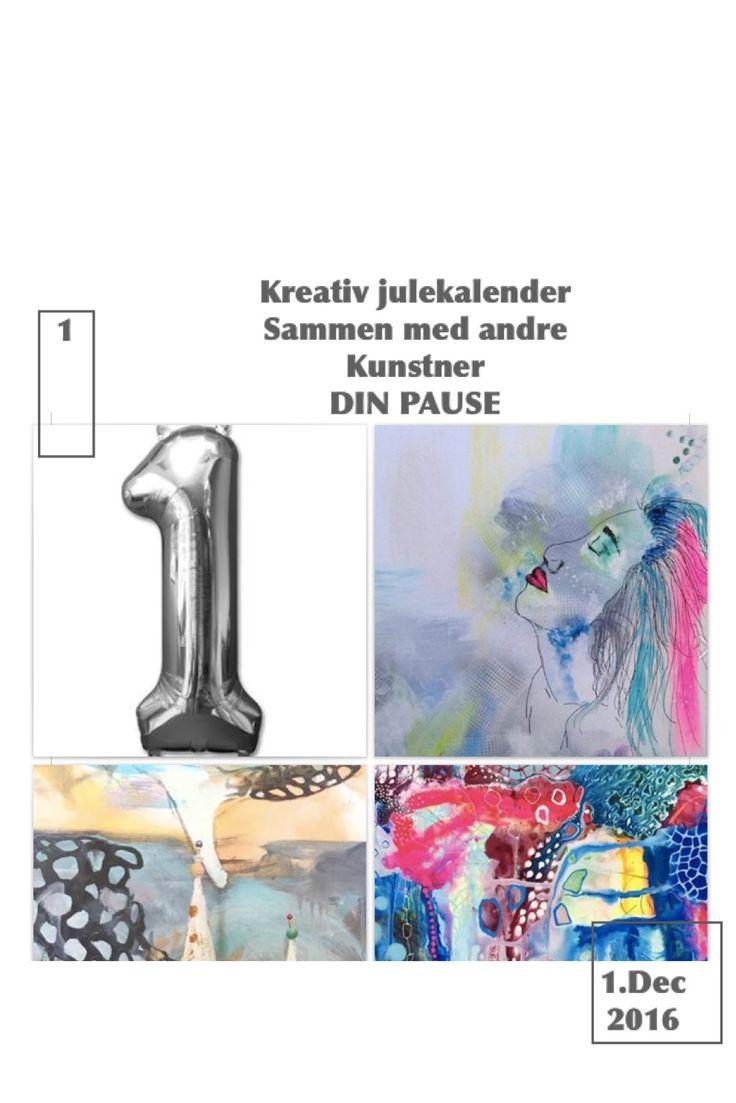 """Jeg er sammen mer andre kreative og er med i en online julekalender - følg den.. MIt maleri er med på 1.låge - øverst til højre.  Maleriet """"Farvet hår"""" Str.A3 - Malet på håndlavet ramme og kvalitets lærred kontakt  dinpause.nu@live.dk eller https://m.facebook.com/DINPAUSE/  www.CREATIVES.nu online julekalenderen her https://www.facebook.com/events/213652179064001/"""