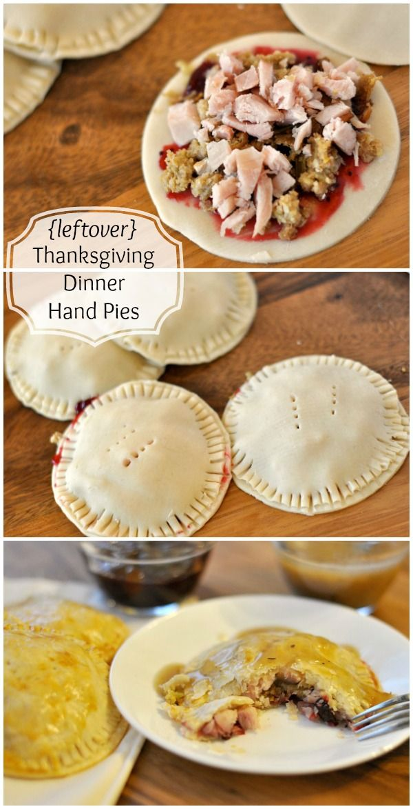Leftover Thanksgiving Dinner Hand Pies - all your favorite flavors wrapped up in a flaky pie crust package, then drizzled with gravy, so good, and way better than a sandwich!
