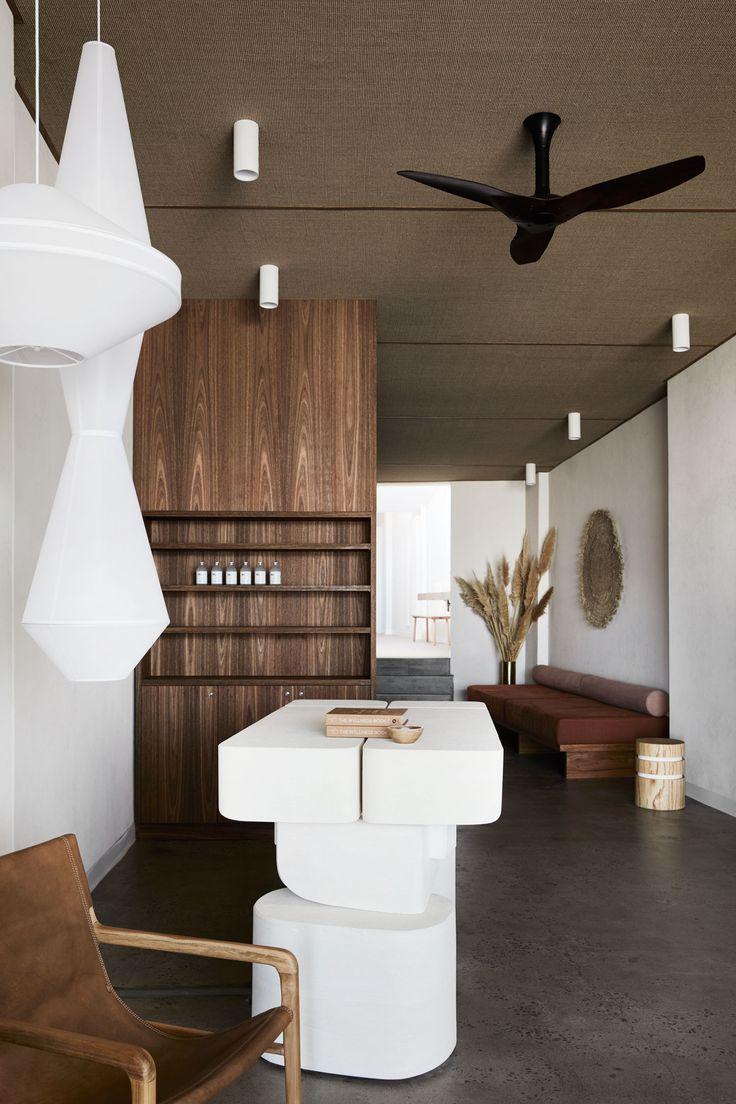 Minimalist interior design for Warrior One yoga studio
