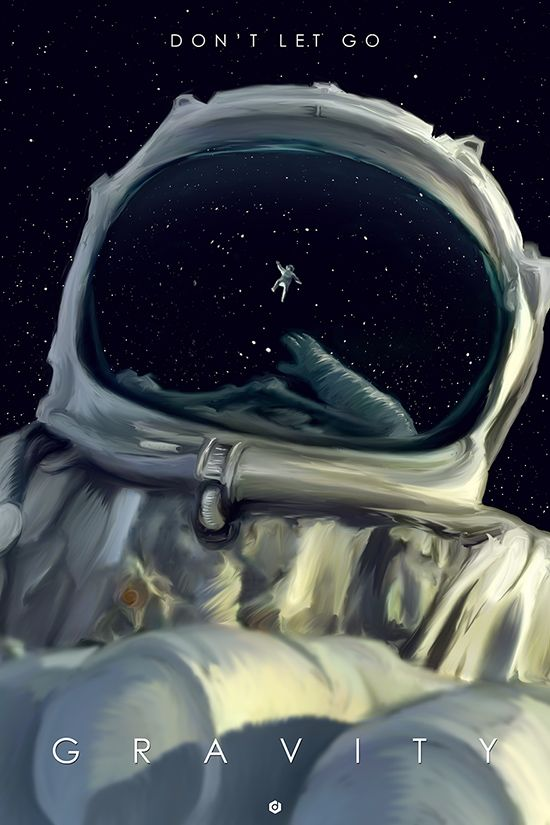 gravity alt poster doaly Alternative Movie Posters by Doaly