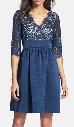 Lace & Faille Dress http://rstyle.me/n/u9dfdnyg6