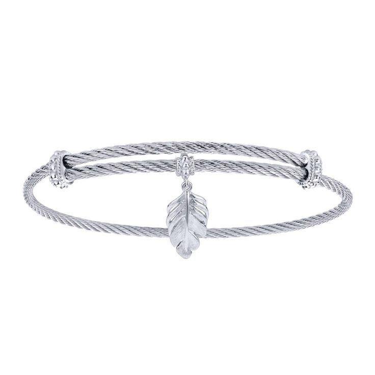 I love feather designs! This feather styled soho bracelet from Gabriel is so cute!! $75!!! #wishlist #feather #gabrielco