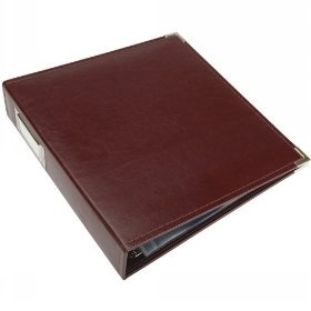 We R Memory Keepers 8-1/2-Inch by 11-Inch Faux Leather 3-Ring Binder, Burgundy $21.88