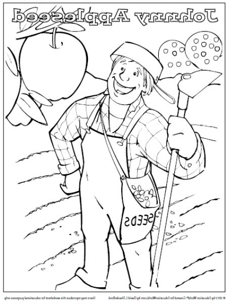 Brilliant Interesting johnny appleseed coloring page ...