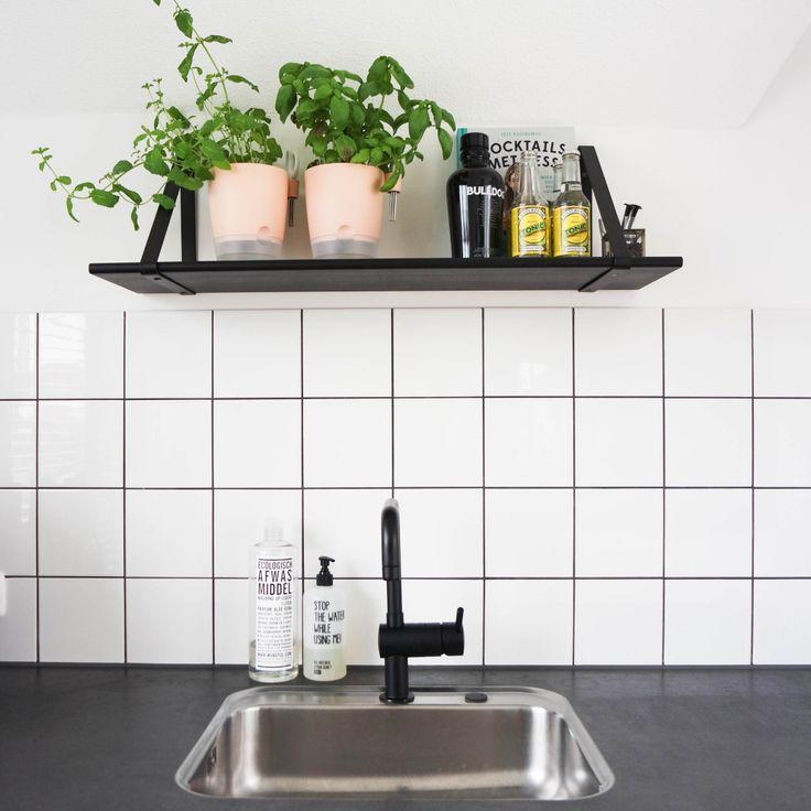 25 beste idee n over witte tegel keuken op pinterest metro tegel keuken natuurlijke keuken - Deco witte tegel ...