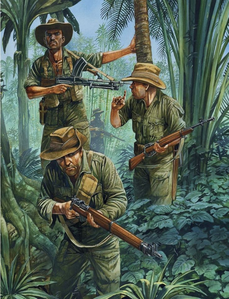 BRITISH ARMY - Chindits in Birmania, 1944. - Peter Dennis.