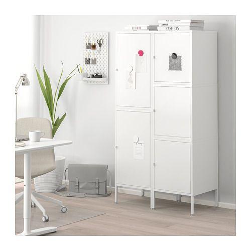 HÄLLAN Aufbewahrung mit Türen, weiß Storage, Doors and Loft ideas