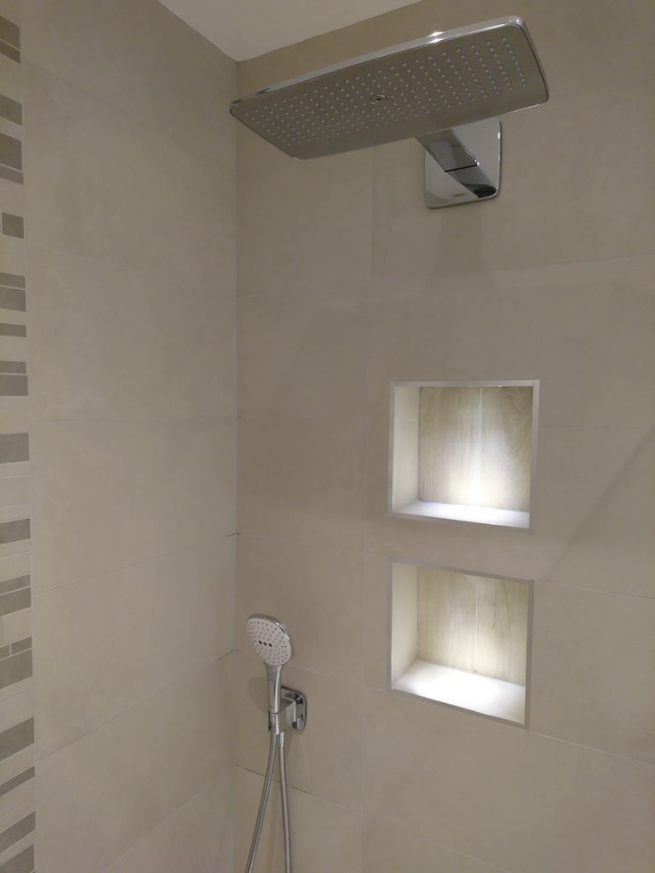 Shower Recesses With Lighting