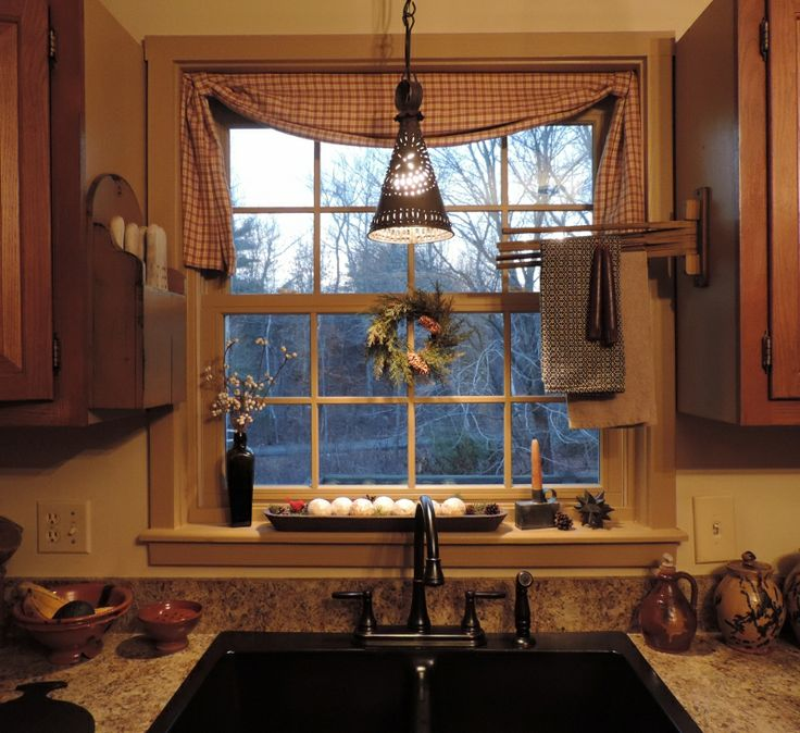 Primitive Kitchen Decor Ideas: 120 Best PRIMITIVE CURTAINS Images On Pinterest