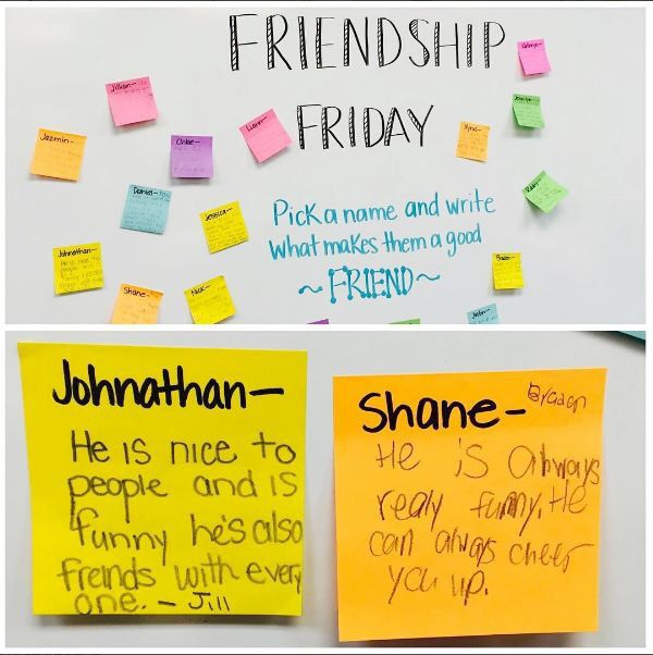 Friendship Friday Idea